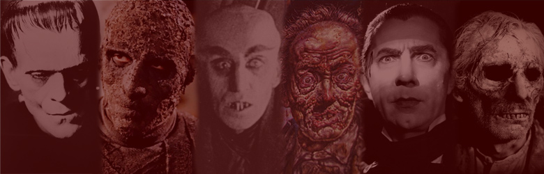 Classic monsters featured in our horror movie magazine and other publications