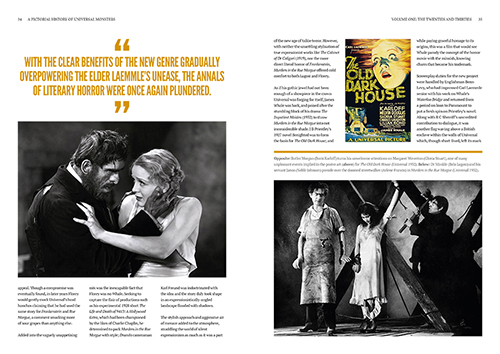A Pictorial History of Universal Monsters Volume One: The Twenties and Thirties - Chapter 2 Page Spread