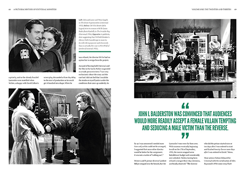 A Pictorial History of Universal Monsters Volume One: The Twenties and Thirties - Chapter 4 Page Spread