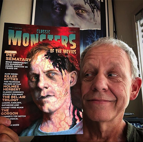 Brad Greenquist with Classic Monsters of the Movies issue 16
