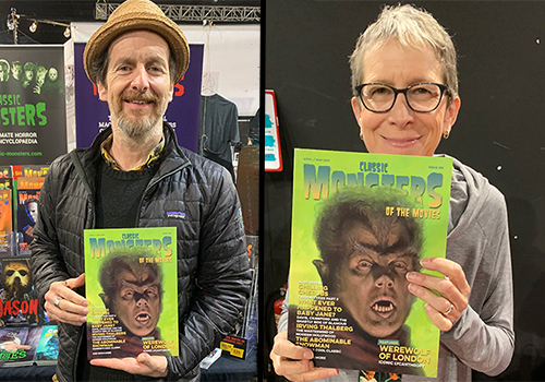 Denis O'Hare and Victoria Price with Classic Monsters of the Movies issue 15