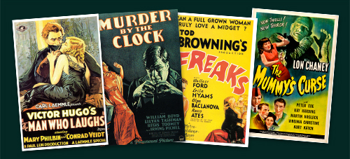Classic Monsters of the Movies Subscription Postcard Set