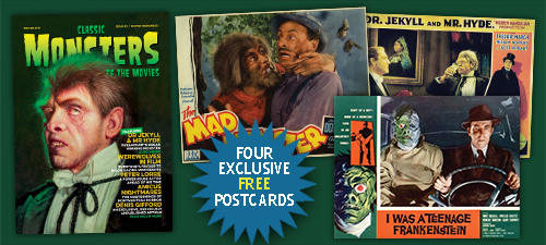Classic Monsters of the Movies issue #5 Legacy Edition Postcards