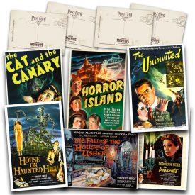 Classic Haunted House Movie Postcard Set #1