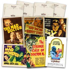 Classic Mad Doctor Movie Postcard Set