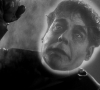 Lon Chaney Jr as Dynamo Dan the Electric Man, fully charged, in Man Made Monster (Universal 1941)