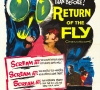 Original theatrical release poster for Return of the Fly (20th Century Fox 1959)