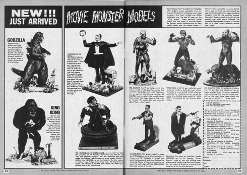 Aurora monster models Famous Monsters ad
