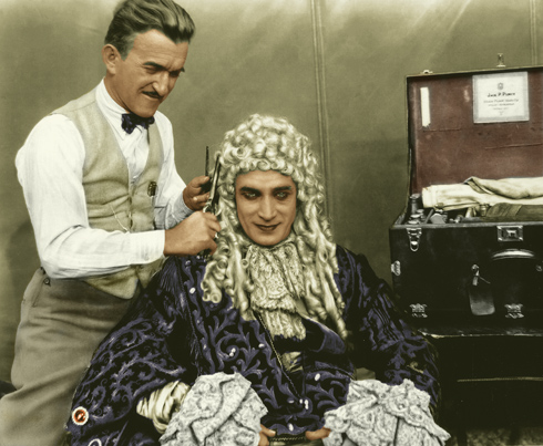 Jack Pierce makes up Conrad Veidt
