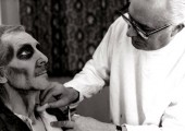 Roy Ashton makes up Peter Cushing for Tales from the Crypt (Amicus 1972)