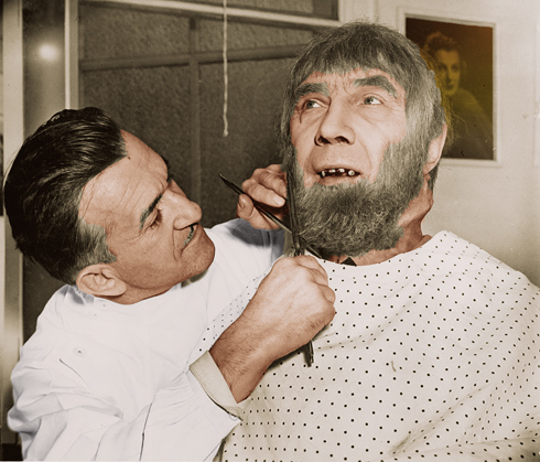 Jack Pierce makes up Bela Lugosi