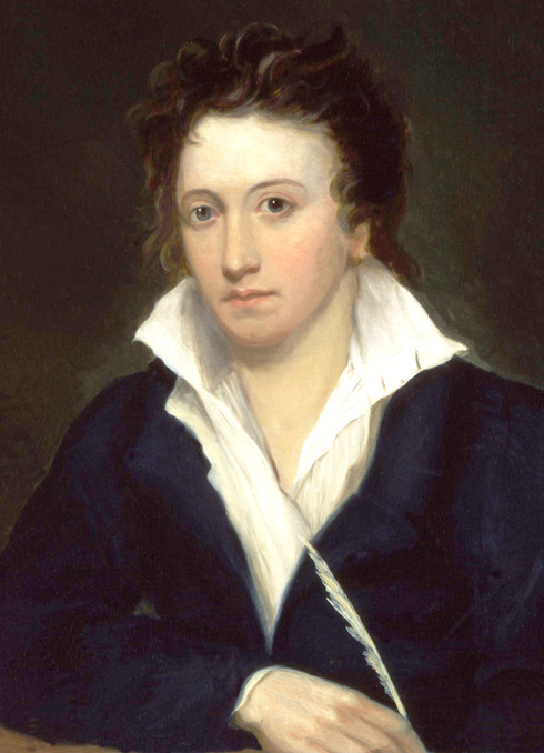 Percy Bysshe Shelley by Alfred Clint
