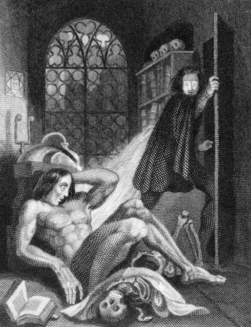 Frankenstein illustration by Theodor M Von Holst