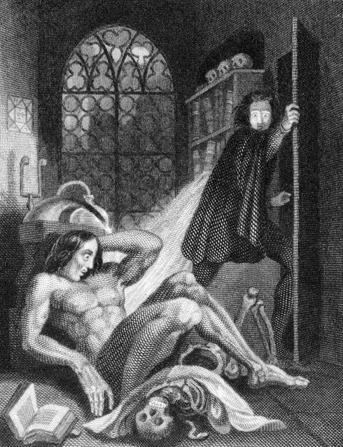 Frankenstein illustration by Theodor M Von Holst