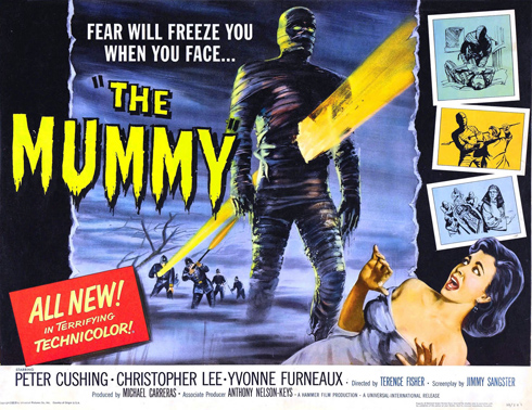 Original theatrical release poster for the mummy hammer 1959