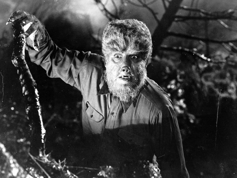 Lon Chaney Jr in Frankenstein Meets the Wolf Man (Universal 1943)