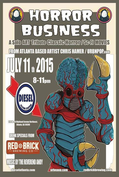 Horror Busines - Atlanta art show by Chris Hamer