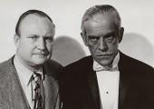 George Waggner with Boris Karloff