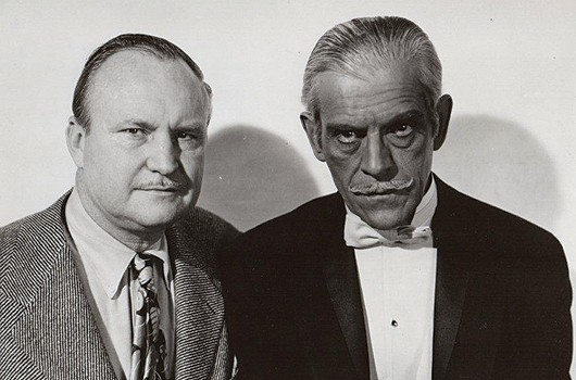 George Waggner with Boris Karloff